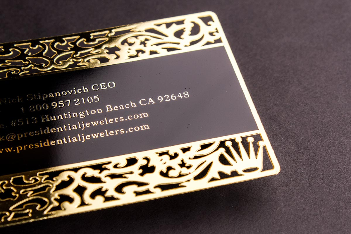 luxurious metal business cards