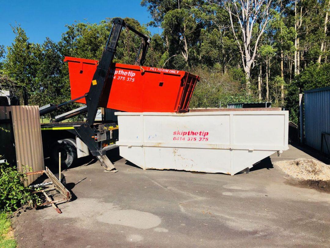 dumpster area